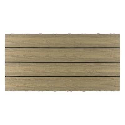 UltraShield Naturale 1 ft. x 2 ft. Quick Deck Outdoor Composite Deck Tile in Roman Antique (20 sq. ft. Per Box)