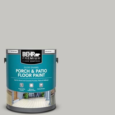 1 gal. #PPU24-16 Titanium Gloss Enamel Interior/Exterior Porch and Patio Floor Paint