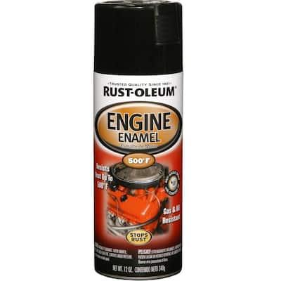 12 oz. Gloss Black Engine Enamel Spray Paint