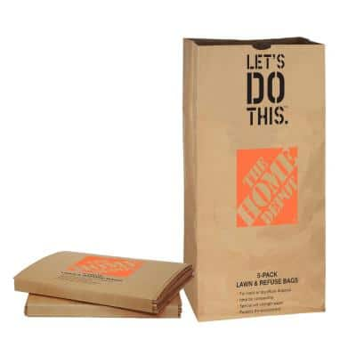 30 Gal. Paper Lawn and Leaf Bags - 5 Pack