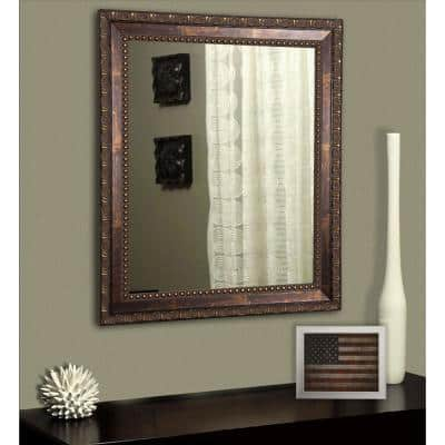 Medium Rectangle Cracked Bronze Classic Mirror 38 In H X 32 In W V041 26 5 32 5 The Home Depot