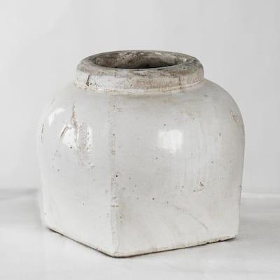 Stoneware Semi-glazed Large Decorative Vase