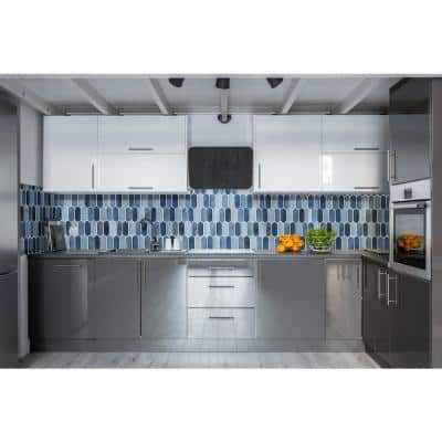 Boathouse Picket 10 in. x 12 in. x 8 mm Glass Mesh-Mounted Mosaic wall Tile ( 8.3 sq. ft./case )