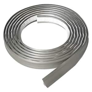 3/4 in. x 10 ft. Grey PVC Inside Corner Self-Adhesive Flexible Caulk and Trim Molding