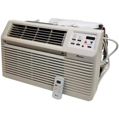 12,000 BTU 230-Volt/208-Volt Through-the-Wall Air Conditioner with 3.5 kW Electric Heat and Remote