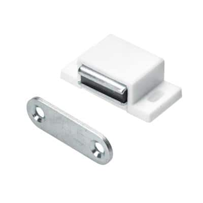 11 lbs. Magnetic Catch with Counter Plate, White (1-pack)
