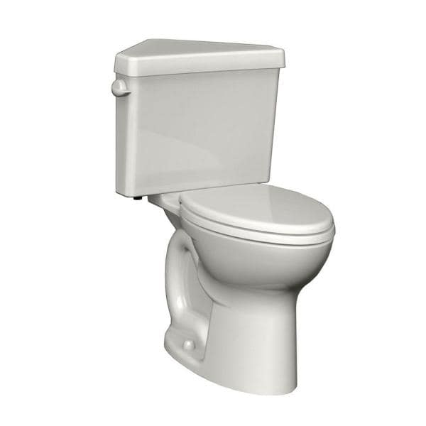 American Standard Cadet 3 Powerwash Triangle Tall Height 2 Piece 1 6 Gpf Round Toilet In White Seat Not Included 270bd001 020 The Home Depot