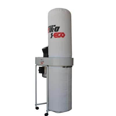 2 HP 1550 CFM 3-Phase 220/440-Volt Vertical Bag Dust Collector with 220-Volt Prewired