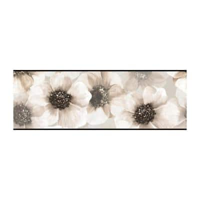 Marguerite Border black/ pearl gray Wallpaper Border