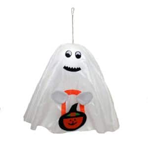 17 in. Halloween Hanging Ghost (Set of 4)