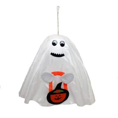 17 in. Halloween Hanging Ghost (Set of 4)