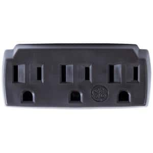 15 Amp Grounding Triplex Outlet Adapter - Brown