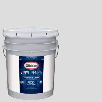 5 gal. #HDGCN61U Snowfield White Low-Lustre Exterior Paint with Primer