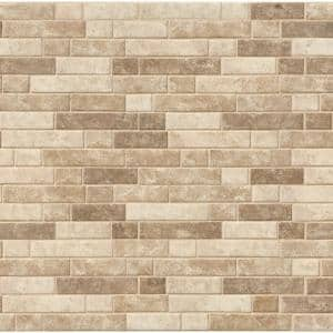 Sahara Sundown Interlocking 12 in. x 12 in. x 6 mm Glass Mesh-Mounted Mosaic Tile (14.55 sq. ft. / case)