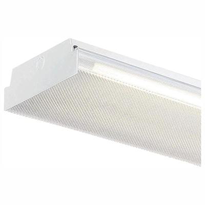 4 ft. x 9 in. 50-Watt 2-Light White LED Flushmount MV Wraparound Light with 3,500 Lumens T8 LED 5000K Tubes