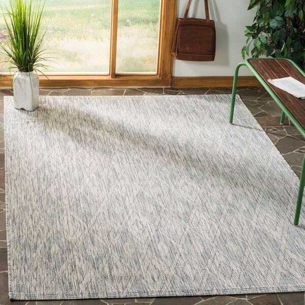 Safavieh Courtyard Gray 8 Ft X 11 Ft Indoor Outdoor Area Rug Cy8522 36811 8 The Home Depot