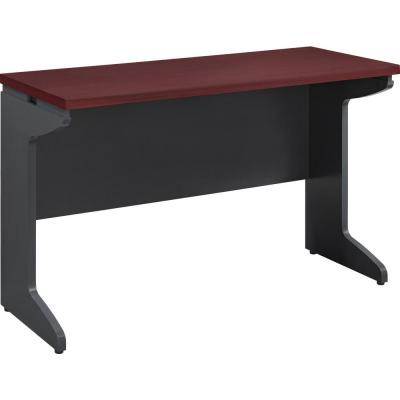 Mansfield Cherry and Gray Bridge Desk