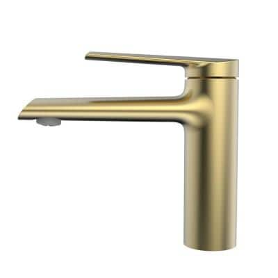 Belanger Single Hole Single-Handle Bathroom Faucet with Drain Assembly in Matte Gold