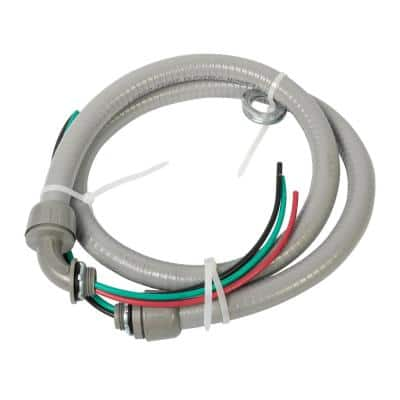 1/2 in. x 4 ft. 10/3 Non-Metallic Flexible Liquidtight A/C Electrical Whip (1-Pack)