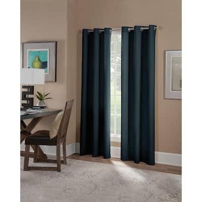 Navy Grommet Blackout Curtain - 42 in. W x 95 in. L