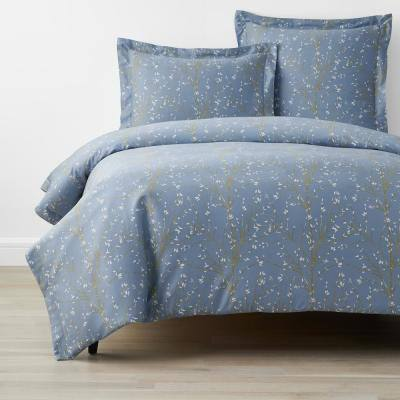 Company Cotton Thistle Blue Bamboo Sateen Pillowcase (Set of 2)