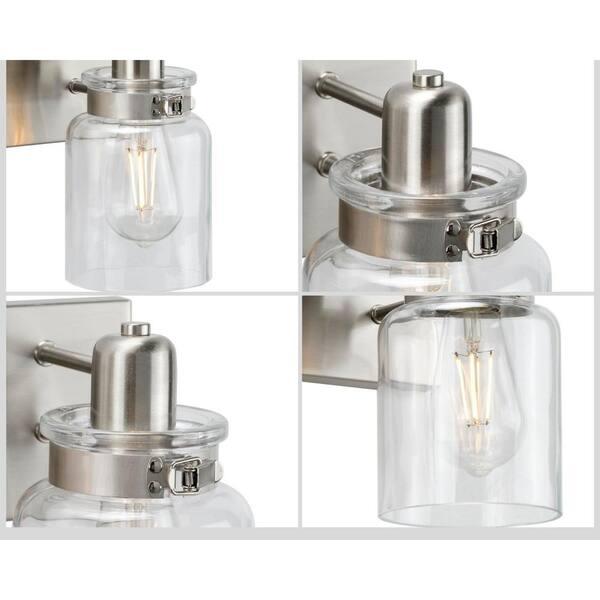 Progress Lighting Calhoun Collection 1-Light Brushed Nickel Bath Sconce
