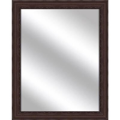 Medium Rectangle Brown Art Deco Mirror (32.375 in. H x 26.375 in. W)