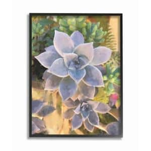 16 in. x 20 in. ''Succulent Plant Desert Party Painting'' by Joshua Chace Framed Wall Art
