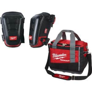 High Performance Hard Shell Knee Pads with PACKOUT Tool Bag