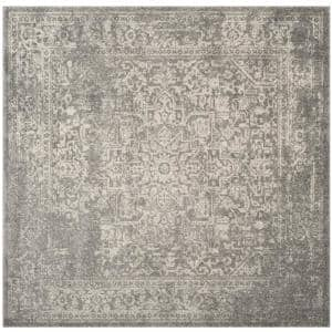 Evoke Silver/Ivory 7 ft. x 7 ft. Square Area Rug