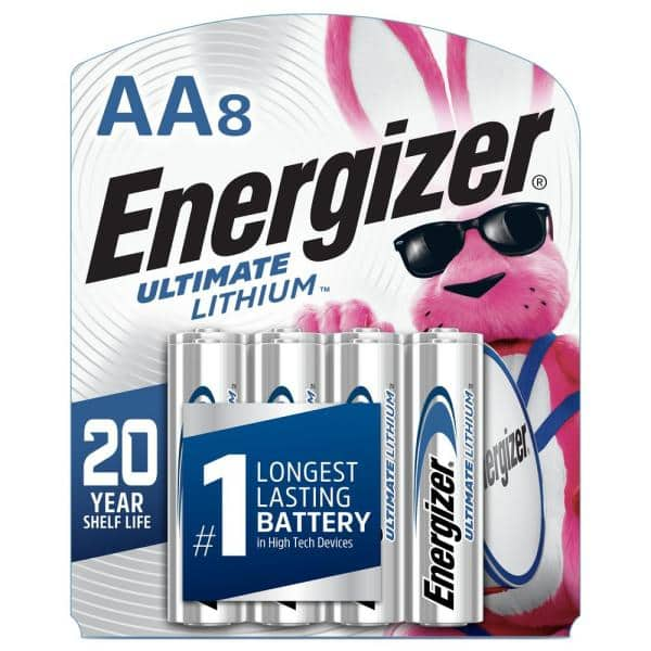Energizer Ultimate Lithium Aa Battery 8 Pack L91sbp 8 The Home Depot