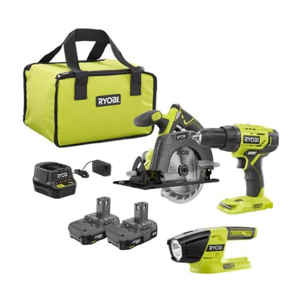 18V Cordless ONE+ 1/2 in. Drill/Driver Kit with  1.5 Ah Battery and Charger and LED Light $59.00