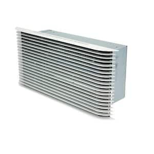 PAW 2250-Watt 7677 BTU Electric Wall Heater 240-Volt with Ultra Grill White