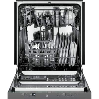 24 in. Stainless Steel Top Control Smart Dishwasher 120-Volt with Stainless Steel Tub and 51 dBA