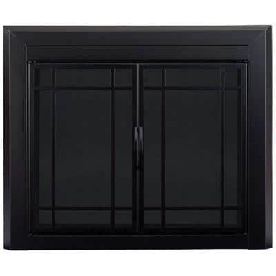 Easton Small Glass Fireplace Doors