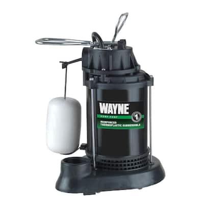 1/3 HP Thermoplastic Sump Pump