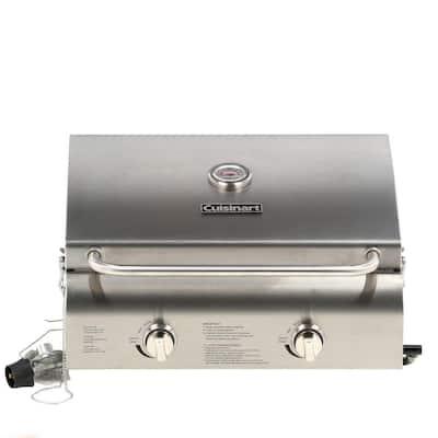 2-Burner Professional Portable Propane Gas Grill