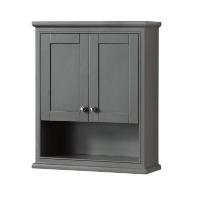 Deborah 25 in. W x 30 in. H x 9 in. D Bathroom Storage Wall Cabinet in Dark Gray