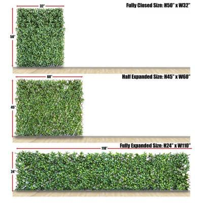 Expandable Gardenia Leaves Willow Trellis Privacy Fencing (2-Pack)