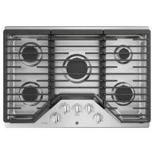 Profile 30 in. Gas Cooktop in Stainless Steel with 5 Burners with Rapid Boil Burner Technology