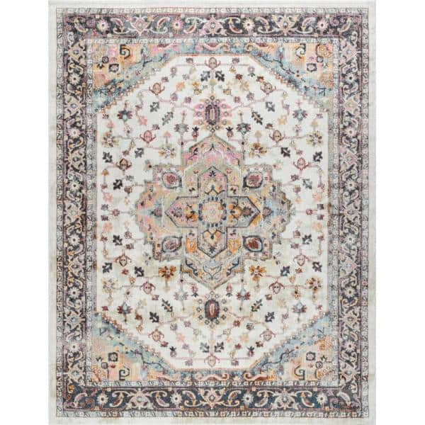 Tayse Rugs Wakefield Brown 8 Ft 9 In X 12 Ft 3 In Indoor Area Rug Wfl4116 9x12 The Home Depot