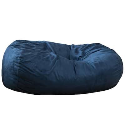 Barracuda Midnight Blue Suede Bean Bag Cover