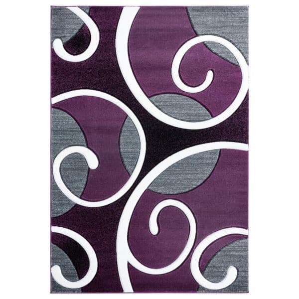 United Weavers Bristol Riley Plum 7 Ft 10 In X 10 Ft 6 In Area Rug 2050 10382 912 The Home Depot
