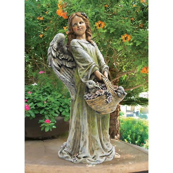 H Joy The Flower Angel Garden Statue, Flower Garden Statues