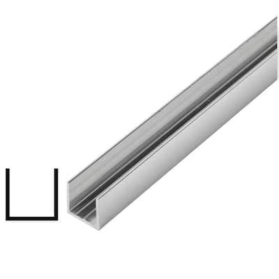 5/8 in. x 5/8 in. x 96 in. Metal Mira Lustre U-Channel Moulding