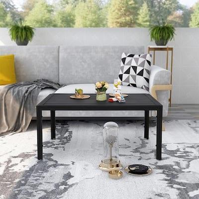 Steel Outdoor Slat Coffee Table
