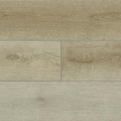 Hydralock Pale Taupe 7 in. W x 60 in. L Floating Vinyl Plank (29.5 sq. ft.)