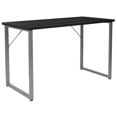 47.3 in. Rectangular Black Computer Desks with Storage