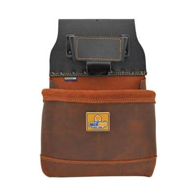 10 in. 1-Pocket Elite Series Leather Tool Pouch in Brown