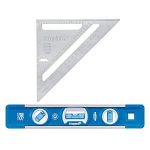 7 in. Magnum Aluminum Rafter Square with 9 in. Torpedo Level